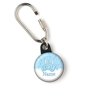 "Gender Reveal: It's a Boy Personalized 1"" Carabiner (Each)"