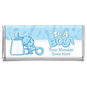 Gender Reveal: It's a Boy Personalized Candy Bar Wrapper (Each)
