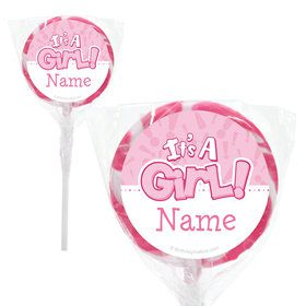 "Gender Reveal: It's a Girl Personalized 2"" Lollipops (20 Pack)"