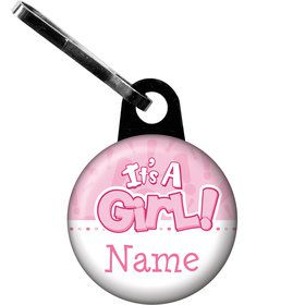 Gender Reveal: It's a Girl Personalized Zipper Pull (Each)