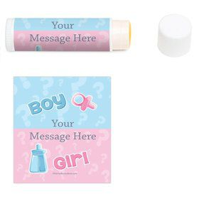 Gender Reveal Personalized Lip Balm (12 Pack)