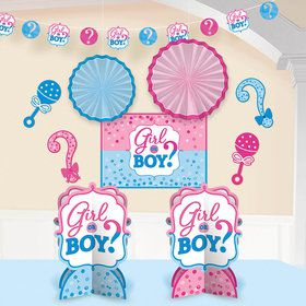 Gender Reveal Room Decorating Kit (10 Pieces)