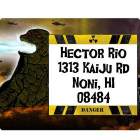 Giant Monster Personalized Address Labels (Sheet of 15)