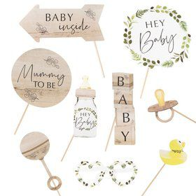 Ginger Ray Botanical Baby Shower Photo Booth Props