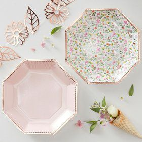 Ginger Ray Ditsy Floral Plates (16)