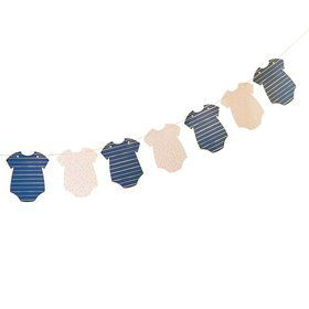 Ginger Ray Gold Foiled Pink & Navy Baby Grow Banner