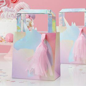 Ginger Ray Make a Wish Foiled Unicorn Tassel Treat Bag (5)
