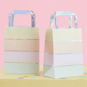 Ginger Ray Pastel Party Foil Stripe Treat Bag (5)