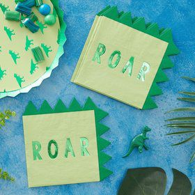Ginger Ray Roarsome Dinosaur Spike Lunch Napkins (16)