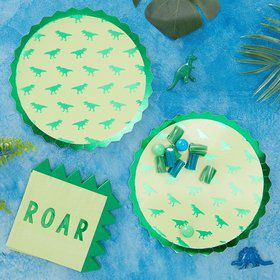 Ginger Ray Roarsome Dinosaur Spike Lunch Plates (8)
