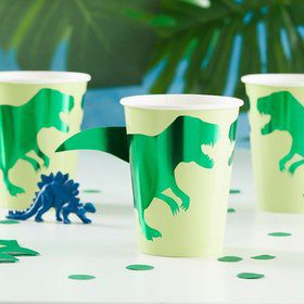 Ginger Ray Roarsome Foiled Dinosaur 9oz. Cups (8)