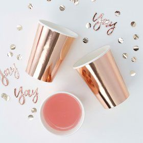Ginger Ray Rose Gold Foiled Cups (8)