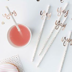 Ginger Ray Rose Gold Yay Straws (16)