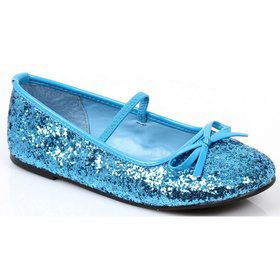 Girls Blue Ballet Flat Shoe