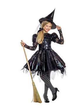 Girls Dark Witch Costume