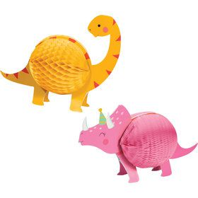 Girls Dino-Roar Honeycomb Centerpieces (2)