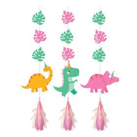 Girls Dino-Roar Iridescent Hanging Decorations