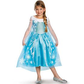 Girls Frozen Elsa Deluxe Costume