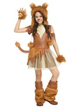 Girls Lioness Costume
