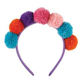 Girls Llama Fun Pom Pom Headband