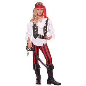 Girls Posh Pirate Costume