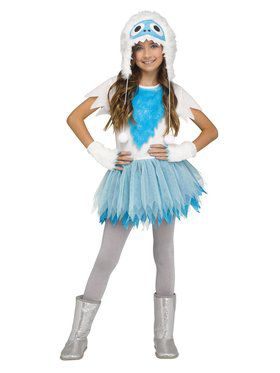 Girls Snow Beastie Costume