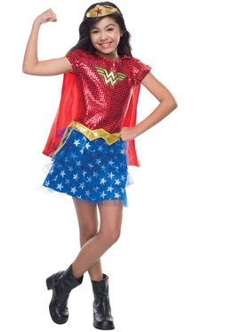 Girls Wonder Woman Sequin Costume