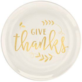 Give Thanks Dessert Coupe Plates