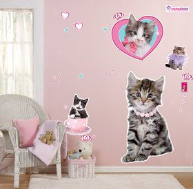 Glamour Cats Giant Wall Decals by Rachael Hale
