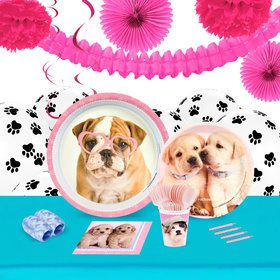 Glamour Dogs 16 Guest Tableware Deco Kit by Rachael Hale