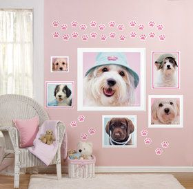 Glamour Dogs Giant Wall Decals by Rachael Hale