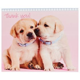 Puppy Dog w// Bone Personalized Note or Thank You Cards