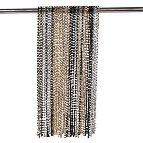 "Gold/Silver/Black 32"" Plastic Bead Necklaces (48 Pack)"