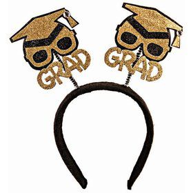 Glitter Grad Hat Bopper Headband