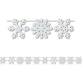 Glittered Snowflake 12' Streamer (Each)