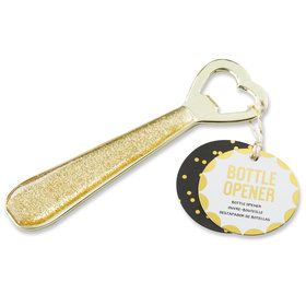 Glittering Heart Bottle Opener