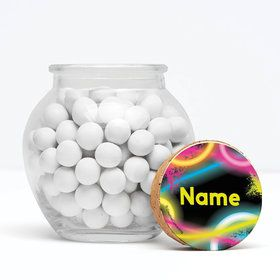 """Glow Party Personalized 3"""" Glass Sphere Jars (Set of 12)"""