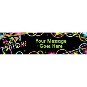 Glow Party Personalized Banner (Each)
