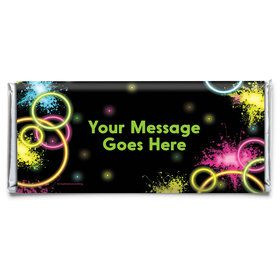 Glow Party Personalized Candy Bar Wrapper (Each)