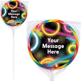 Glow Party Personalized Lollipops (12 Pack)