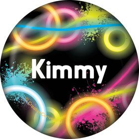 Glow Party Personalized Mini Button (Each)