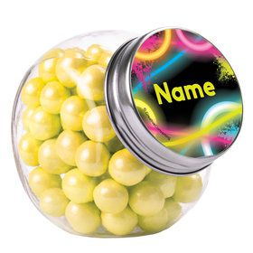 Glow Party Personalized Plain Glass Jars (10 Count)