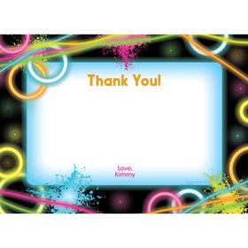Glow Party Personalized Thank You (Each)