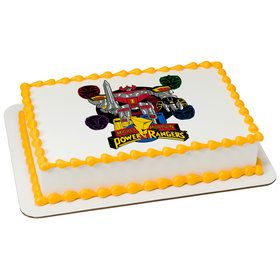 Go Go Power Rangers! Quarter Sheet Edible Cake Topper (Each)