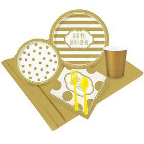 Gold and White Birthday Party Pack
