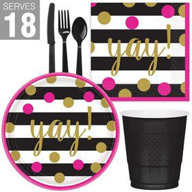 Gold Confetti Grad Snack Pack for 18