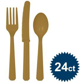 Gold Cutlery Set (24 Pack)