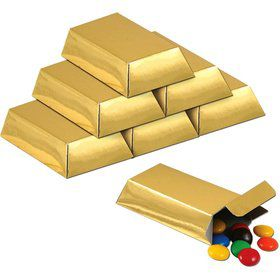 Gold Foil Favor Boxes (12 Pack)