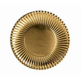 Gold Lunch Paper Plates (10)