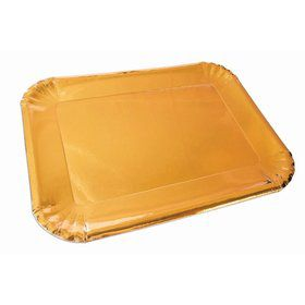 Gold Paper Platters (4)